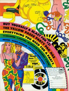 1969, Push Pin Studio (Milton Glaser, Seymour Chwast, Reynold Ruffins, Edward Sorel) : Yellow-Pages