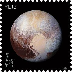 Pluto may not be a planet, but now it's got its own postal stamp right along side the official planets of our solar system.