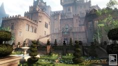 The Bardic view into the development of Fable III and Lionhead Studios. Fable 2, Garden Drawing, Fantasy City, Environment Concept Art, Beautiful Buildings, Art Google, Barcelona Cathedral, Scenery, Exterior