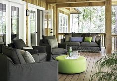 Outdoor living room of traditional and modern house in atlanta