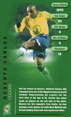 TOP TRUMPS-WORLD FOOTBALLERS 2001-BRAZIL /& REAL MADRID-ROBERTO CARLOS