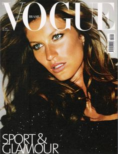 Vogue Brazil October 2002 : Gisele Bündchen by Mario Testino Vogue Covers, Vogue Magazine Covers, Fashion Magazine Cover, Fashion Cover, Top Models, Female Models, Vogue Us, Vogue Korea, Mario Testino