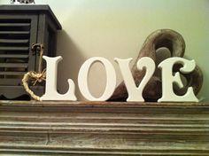 15cm Handpainted Wooden Freestanding Letters  by LoveLettersMe