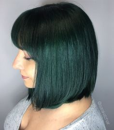 Forest Green Teal Hair, Green Hair, Emerald, Hair Makeup, Make Up, Long Hair Styles, Colors, Beauty, Teal Ombre Hair