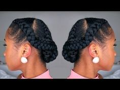 How to Snatch YO Hair Back into a Simple Braided Protective Hairstyle - Hair Styles Protective Hairstyles For Natural Hair, Natural Hair Updo, Natural Hair Styles, Cabello Afro Natural, Pelo Natural, Flat Twist Updo, Types Of Braids, Twist Hairstyles, Dreadlock Hairstyles
