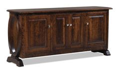 "Amish 74"" Saratoga Office Credenza with Optional Hutch Top Here's a standout for your office. Lots of storage to serve you and a unique, contemporary look handcrafted in solid wood."