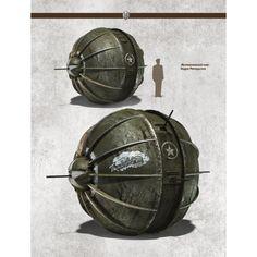 Steampunk. Sphere tank.