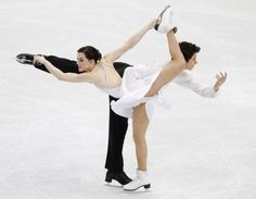 Tessa Virtue and Scott Moir of Canada skate their free program in the figure skating ice dance competition at the 2010 Winter Olympics in Vancouver, Canada on February 22, 2010