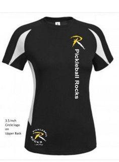 bc440252b95b6 Black with White Trim Ladies Dri Fit Shirt · Round  LogoWetsuitLadyAthleticShirtsSwimwearProductsFitnessWhite Trim.