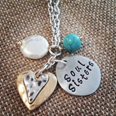 Hand Stamped Pewter  Soul Sisters  Necklace by HippieSwankBoutique, $32.00