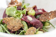 Salat med røget hjorteinderlår