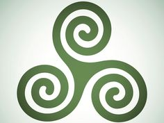 The joining of the three spirals into one center may represent an invocation on a three-fold force.