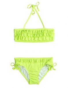 Justice Swimsuits | Solid Ruffle Bikini Swimsuit | Bikinis | Swimsuits | Shop Justice