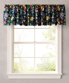 Love This Blue Folksy Floral Valance By Teen Vogue On #zulily! #zulilyfinds