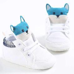 Baby Autumn Cheap Shoes Kid Boy Girl Fox Head Lace Baby Boy Shoes, Crib Shoes, Boys Shoes, Baskets, Shoe Basket, Basket Sport, Cartoon Shoes, Walker Shoes, Toddler Sneakers