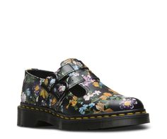 Darcy Floral, a circa-90s print from our archives, is reinvigorated with rich, multi-colored blooms against a black leather background. With a soft, hand-painted effect, the pattern effortlessly brings floral from summer to fall — and beyond. And even with double-buckle fastening and all the classic Doc's DNA — grooved edges, yellow stitching and air-cushioned soles — this bold botanical update is a totally fresh take on our adult-sized Mary Janes. Built to last, it's made using one o...