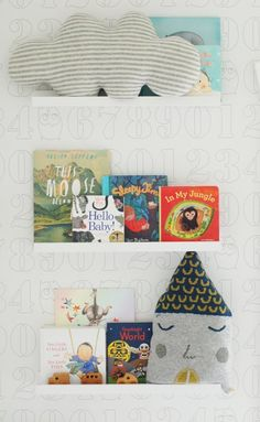 Xavier's Modern Woodsy Nursery - Modern Woodsy Nursery, Nursery Modern, Nursery Bookshelf, Nursery Storage, Scandinavian Nursery, Book Wall, Carousel Designs, Nursery Inspiration, Nursery Ideas