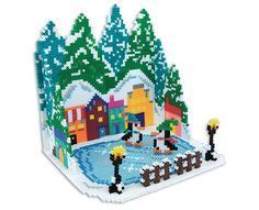 Cool Christmas - 3D Perler Project Pattern