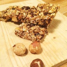 Barrette ai cereali e cioccolato fondente Protein Bars, Granola, Vegan Vegetarian, Vegan Recipes, Food And Drink, Sweets, Snacks, Homemade, Cookies
