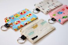 Ask and ye shall recieve! Here's the tutorial for the Lil Cutie Pouch. You need: 8 x 6.25 piece of exterior fabric (interfaced) 8 x 6.25 piece of lining 2 x 3 piece of fabric for key ring loop split key ring 8″ zipper This one's quick! Make a couple at a time and keep …