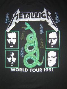 Vintage rock band tour t-shirt print Metallica