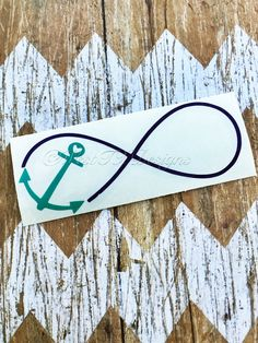 Anchor Decal  Hope Anchors the Soul  Vinyl Decal  by WestTXDesigns