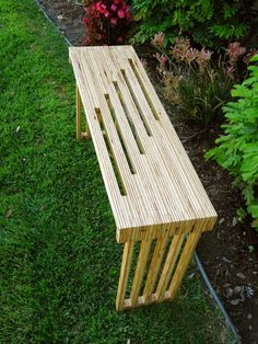 Plywood bench / end table by SeeWhatISawed on Etsy