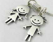 Happy boy & girl necklace