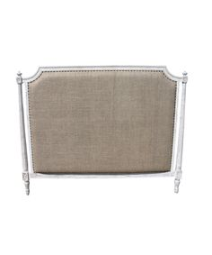 Isabelle Queen Headboard - White Washed - FURNITURE - Beds