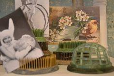 vintage flower frogs
