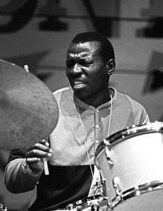 Elvin Jones played with Coltrane in his Quartet from 1960-6, appearing on albums such as A Love Supreme.
