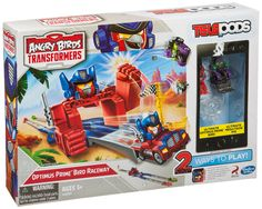 Angry Birds Transformers Telepods Optimus Prime Bird Raceway. Officially Licensed.