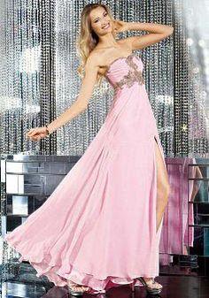 Chiffon Sweetheart Sheath/ Column Empire Floor Length Prom Dresses - Lunadress.co.uk
