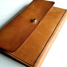 Leather Clutch by chocolate brownie