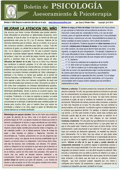 As improve care. Psychology newsletter by Juan J. Ibáñez Solar (spanish) ¿Cómo mejorar la atención? por Juan J. Ibáñez Solar