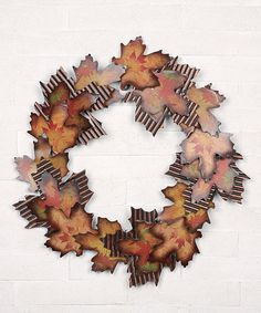 Take a look at this Maple Leaves Wreath by Transpac Imports on #zulily today!
