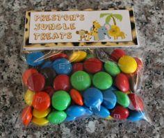 Jungle/Safari Customized Birthday Candy set by CreatingMemoriesNC, $16.00