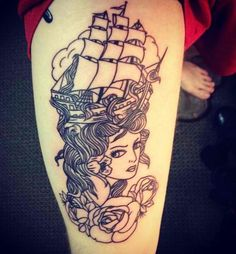 love the girl and the ship on her head