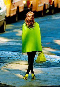 Blair Waldorf in matching neon!