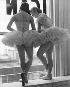 Scene at the School of American Ballet, New York, 1936.