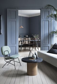 Inside the smokily colored home of Alessandro D'Orazio and Jannicke Kråkvik, stylists and owners of Oslo's best design store, Kollekted By.