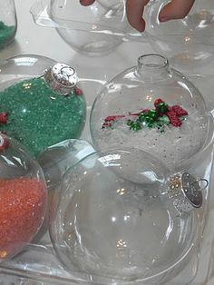 I LOVE how these turned out.but more importantly, my son LOVED the process of making them, which is saying a lot because in all honesty, . Preschool Christmas, Kids Christmas, Christmas Bulbs, Sensory Activities, Activities For Kids, Crafts For Kids, Christmas Projects, Holiday Crafts, Christmas Gifts For Parents