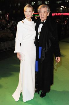 Cate Blanchett and Ian McKellen at event of The Hobbit: An Unexpected Journey