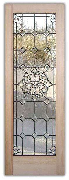 Beautiful Bevels Door - Beveled Glass Door Leaded Glass Entry Doors by Sans Soucie Art Glass.