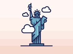 statue of liberty drawing illustrations / statue drawing illustration , statue drawing illustration character design , statue drawing illustration art , statue of liberty drawing illustrations Statue Of Liberty Drawing, New York Drawing, Youtube Design, Building Drawing, World Map Art, Art Basics, City Icon, Bullet Journal Art, Travel Icon