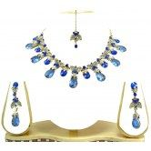 party-wear-royal-blue-kundan-cz-gold-tone-necklace-earring-set-from-muhenera-accessories-a102
