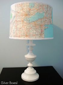 Upcycled thrift store lamp