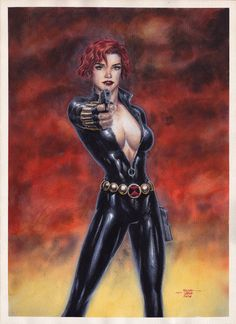 Black Widow - Watercolors by edtadeo on DeviantArt Comic Movies, Comic Book Characters, Comic Book Heroes, Marvel Characters, Comic Character, Heros Comics, Marvel Comics Superheroes, Marvel Heroes, Marvel Art