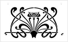 Art Nouveau stencils from The Stencil Library. Buy from our range of Art Nouveau stencils online. Page 4 of our Art Nouveau border stencil catalogue. Motifs Art Nouveau, Art Nouveau Pattern, Art Nouveau Tiles, Art Nouveau Design, Stencil Patterns, Stencil Painting, Stencil Designs, Stenciling, Stencils Online
