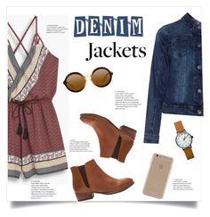 """denim jackets"" by jenningsseton ❤ liked on Polyvore featuring MANGO, Seychelles, Zizzi and Agent 18"